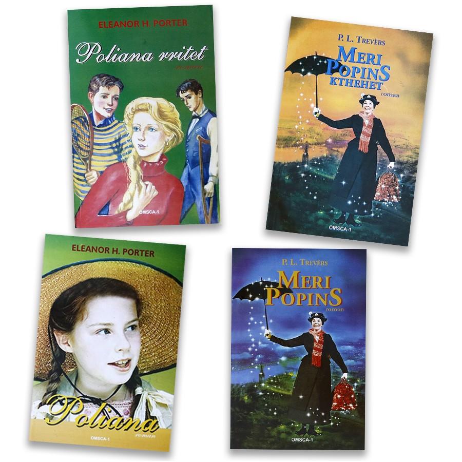 Meri Popins dhe Poliana, set me 4 libra