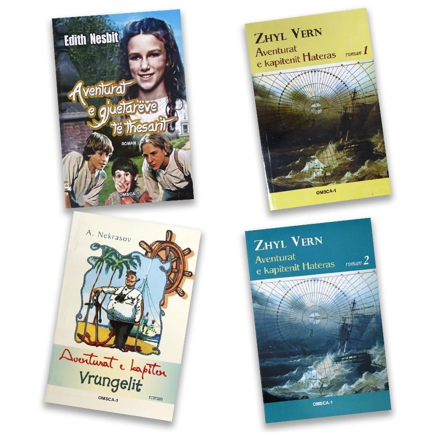 Aventura verore për të vegjlit, set me 4 libra
