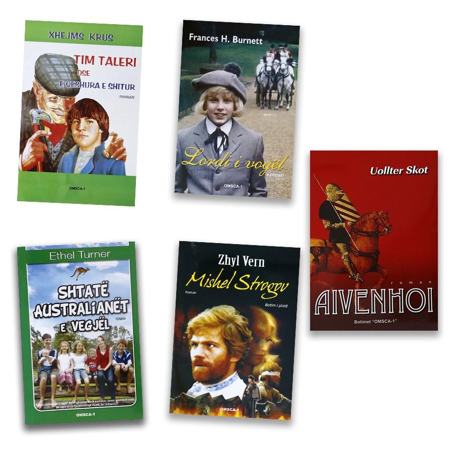 Heronjtë e vegjël në bibliotekën tënde, set me 5 libra