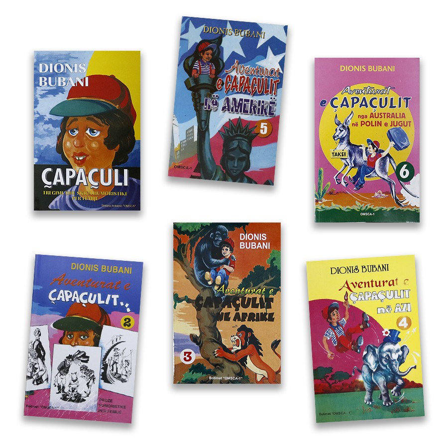 Çapaçuli dhe udhëtimet e tij nëpër botë, set me 6 libra