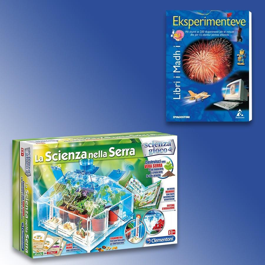 Loder La Scienza Nella Serra Clementoni + Libri I Madh I Eksperimenteve