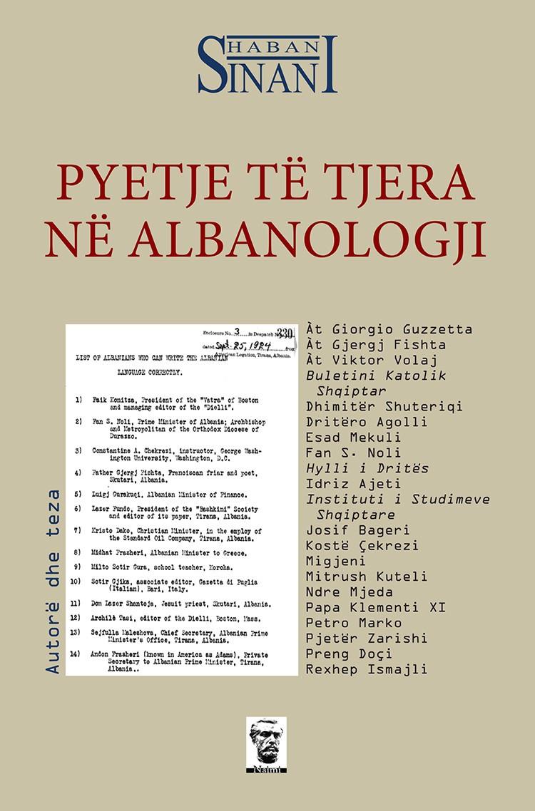 Pyetje të tjera në albanologji