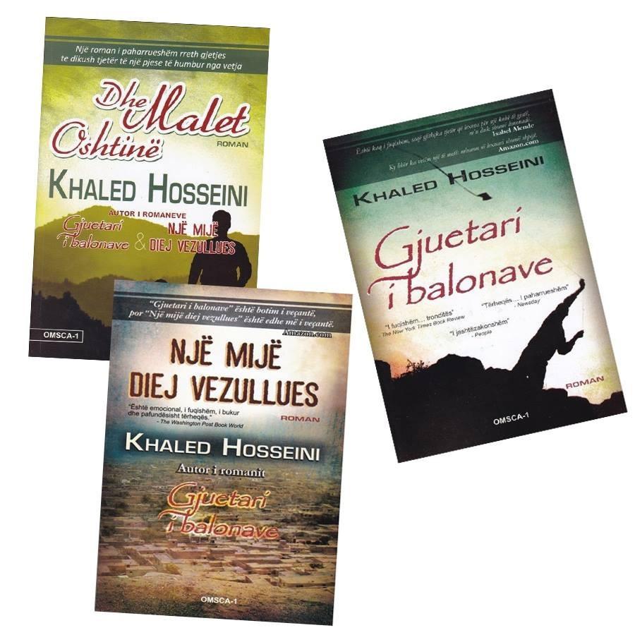 Set 3 libra, - Magjia e Khaled Hosseini në bibliotekën tënde