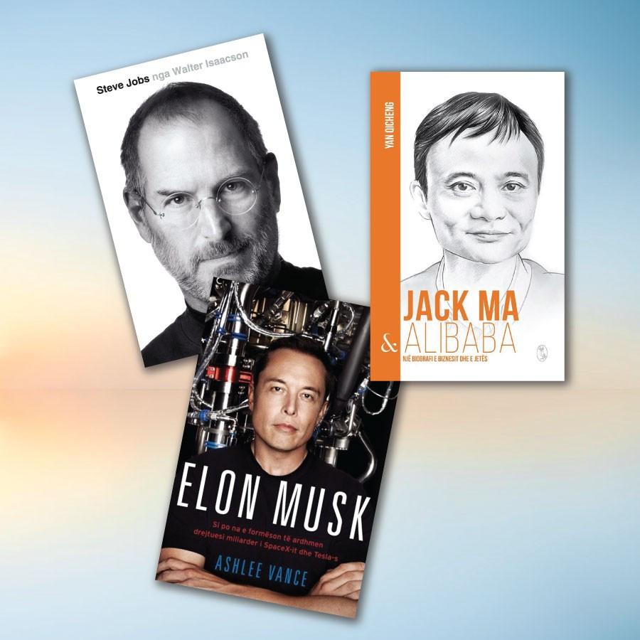 Biografi biznesmenësh të suksesshëm – set me 3 libra