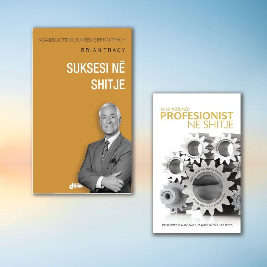 Shitjet në biznes sipas Brian Tracy dhe Vasil Naçit – set me 2 libra