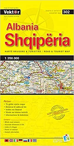 Shqipëria -Yellow Map-