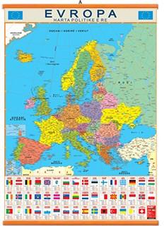 Evropa harte fizike dhe politike 70x100cm