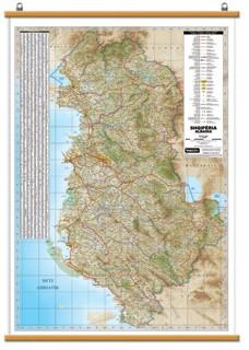 Shqipëria harte fizike dhe politike 70x100cm