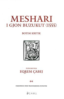 Meshari i Gjon Buzukut, botim kritik (HC)