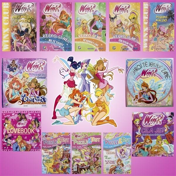 Set me 9 librat e Winx-ave dhe 3 teste dhe puzzle